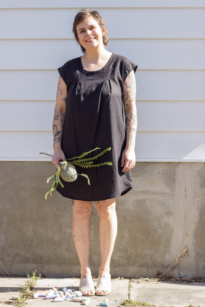 Vera Véro Pacific Dress Nokomis (Black) Elizabeth Hudson Ursa Minor Victoire Boutique Made in Canada Canadian design