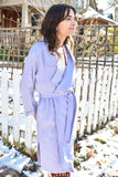 Eve Gravel Clothing Bal Masque Jacket Lilac Linen Trench Coat Lilac Purple Spring Jacket Ethically Made in Canada Capsule Wardrobe Sustainably Made Victoire Boutique