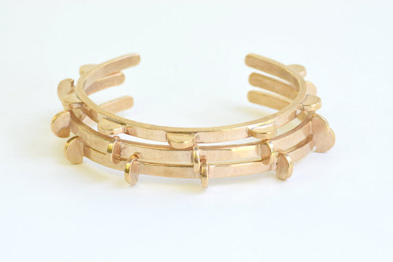 Lumafina Jewelry Lunar Cuff Bronze Made in Portland Oregon Ships from Canada Victoire Boutique