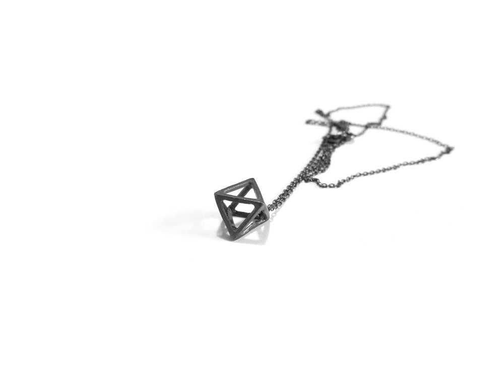 Elaine Ho Mini Octahedron Necklace