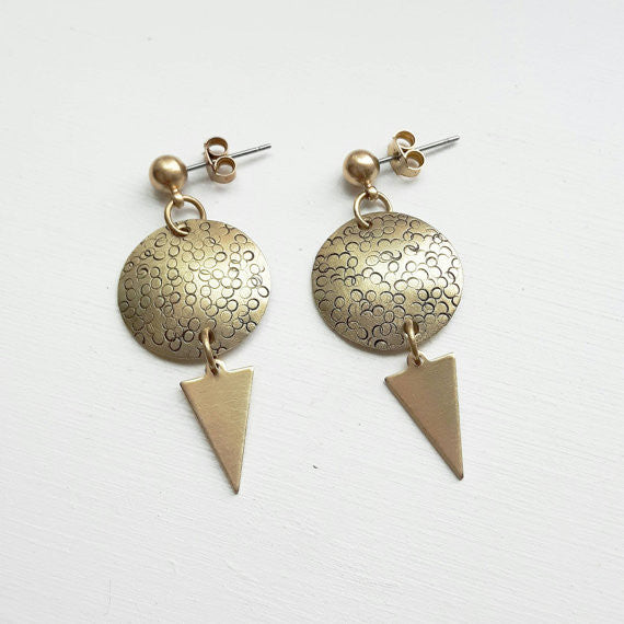 Vardi Jewelry Odin Earrings Made in Ottawa, ON Canadian Jewelry Designer Victoire Boutique