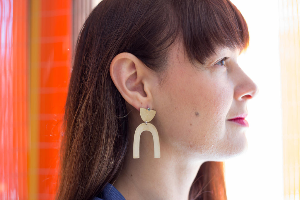 Lumafina Jewelry Linu Suma Earrings Made in Portland Oregon Victoire Boutique