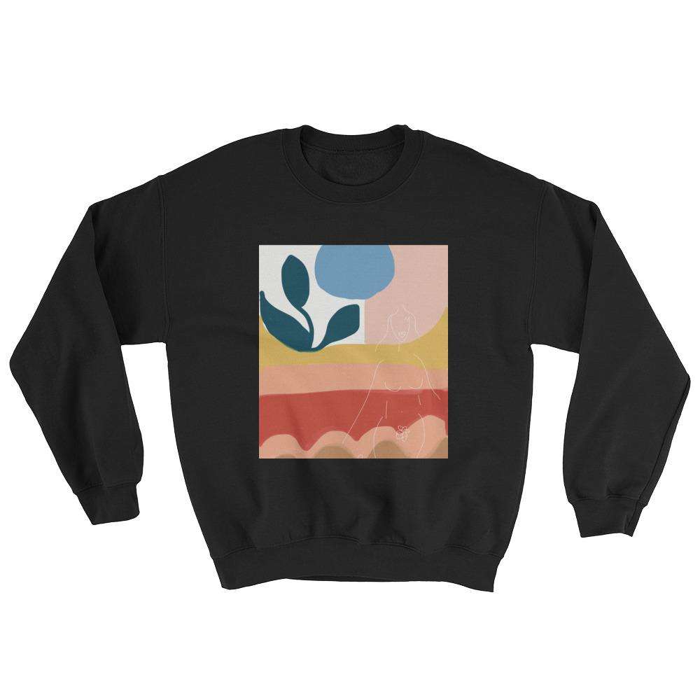 BB Bush Clothing Season 2 Crew Neck Sweater Black Peace Feminist Clothing Company Feminist Art Made in Halifax Canadian Fashion Victoire Boutique