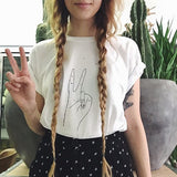 Wawa design peace sign tee peace be with you Victoire Boutique