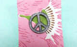 Victoire Glitter Peace Sign Lapel Pin