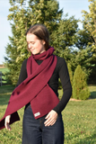 Karianne Poutre Galene Scarf Scarves Raspberry Apricot Blue Green Grey. Canadian Made Scarf Outerwear Winter Accessories.