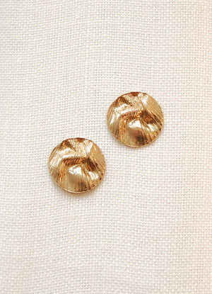 Hawkly Jewelry Playa Earrings Bronze Sterling Silver Statement Stud Earrings Made in Toronto Victoire Boutique Canadian Made Jewelry Ethereal Jewelry Everyday Luxury Jewelry Stud Earrings