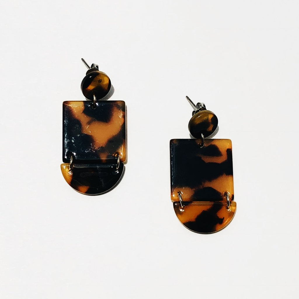 Sundara Mar Jewelry Thira Earrings Cellulose Acetate Earrings Acrylic Style Earrings Victoire Boutique