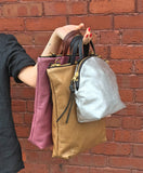 Eleven Thirty Shop Toronto Leather Bags Canadian Leather Bag Melissa Bag Large Tan Leather Laptop Bag Shoulder Bag Made in Toronto Canadian Fashion Victoire Boutique