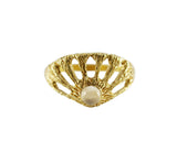 Stefanie Sheehan brass Window ring with Moonstone