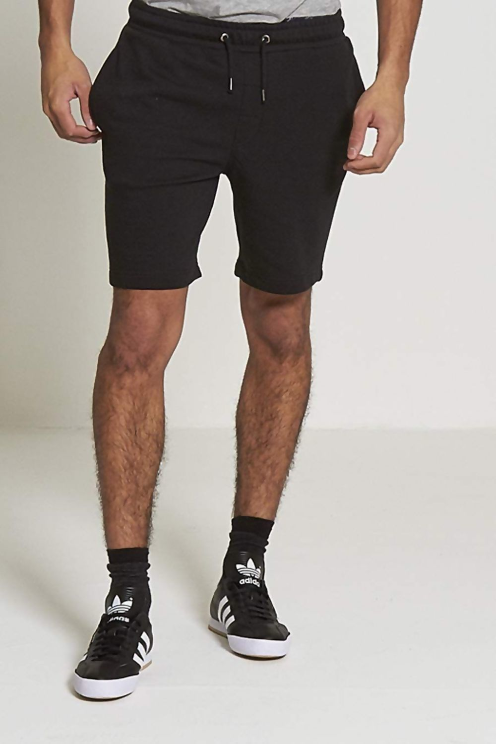 Black Jersey Sweat Short