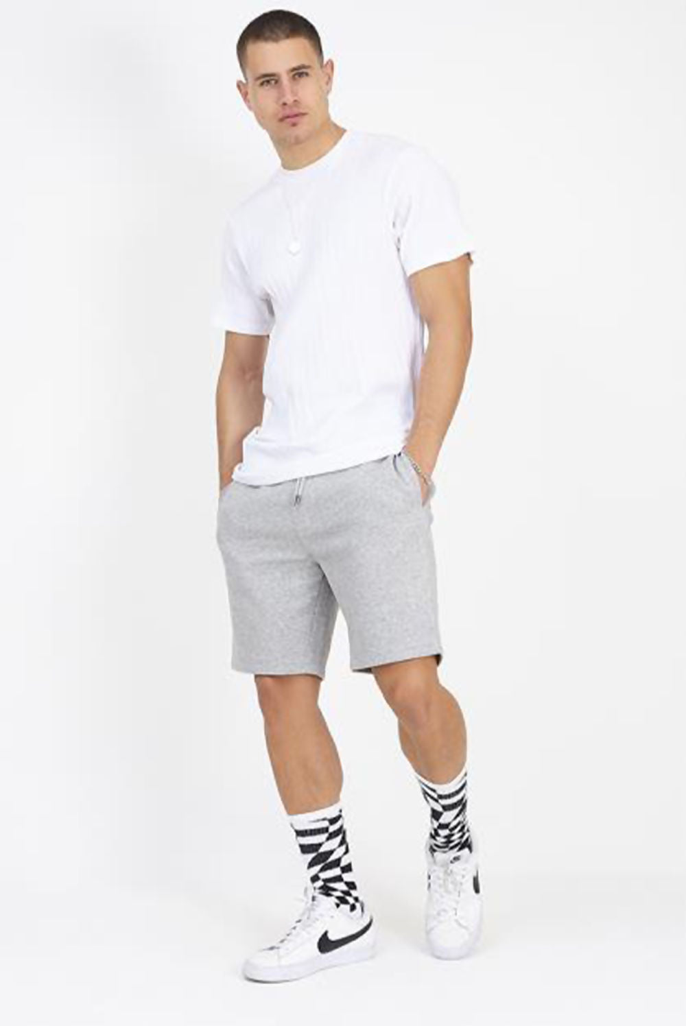 Grey Jersey Sweat Short