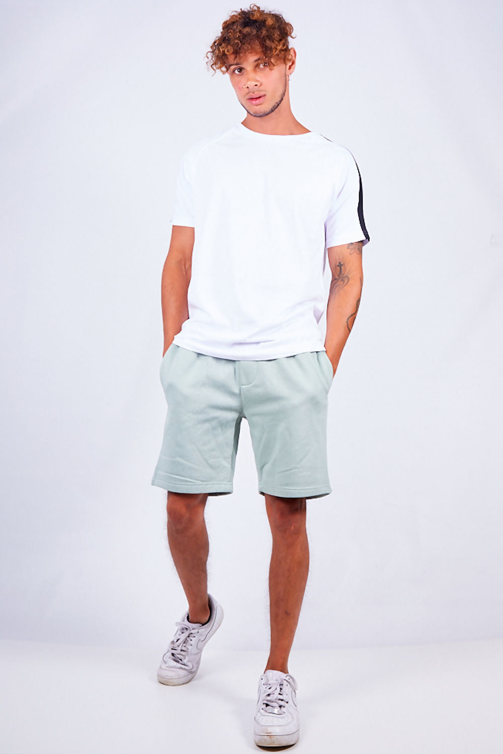 Mint Green Jersey Sweat Short