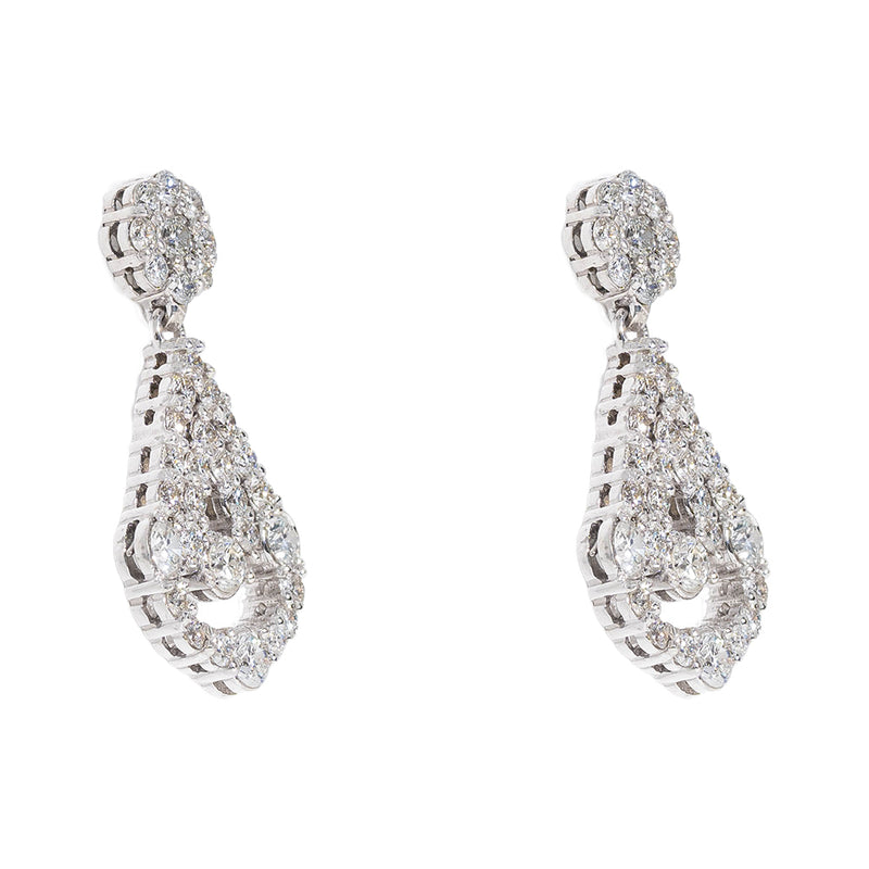 Chandeliers Earrings With Diamonds