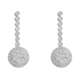 Hanging Earrings With Diamonds