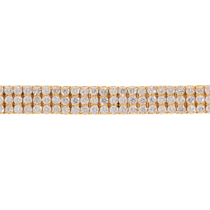 Diamond Tennis Bracelet 3 Rows