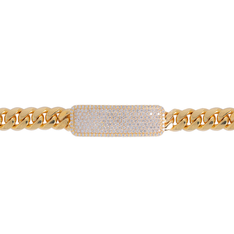 Diamond Cuban link ID Bracelet