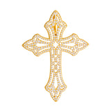 Large Cross Pendant With Diamonds