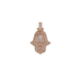 Small Hamsa Pendant With Diamonds