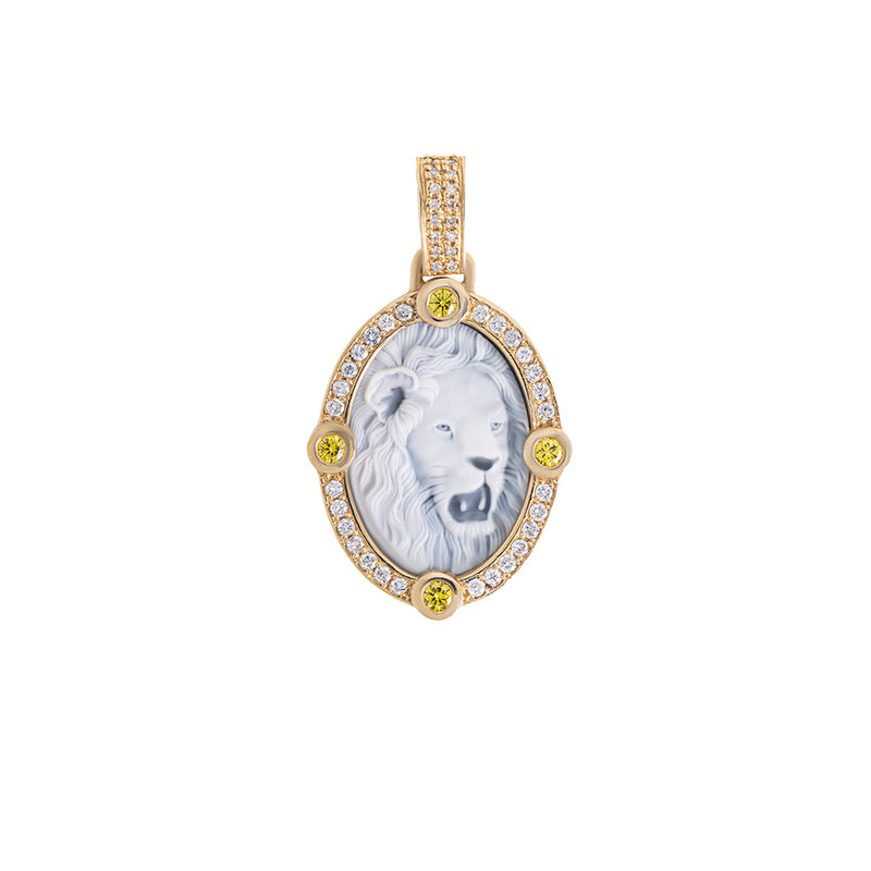 Lion Pendant With Diamonds