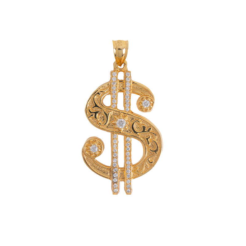 Dollar Sign Pendant With Diamonds