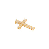 Cross Pendant With Fancy Yellow Diamonds