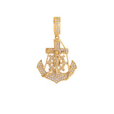Anchor Pendant With Diamonds