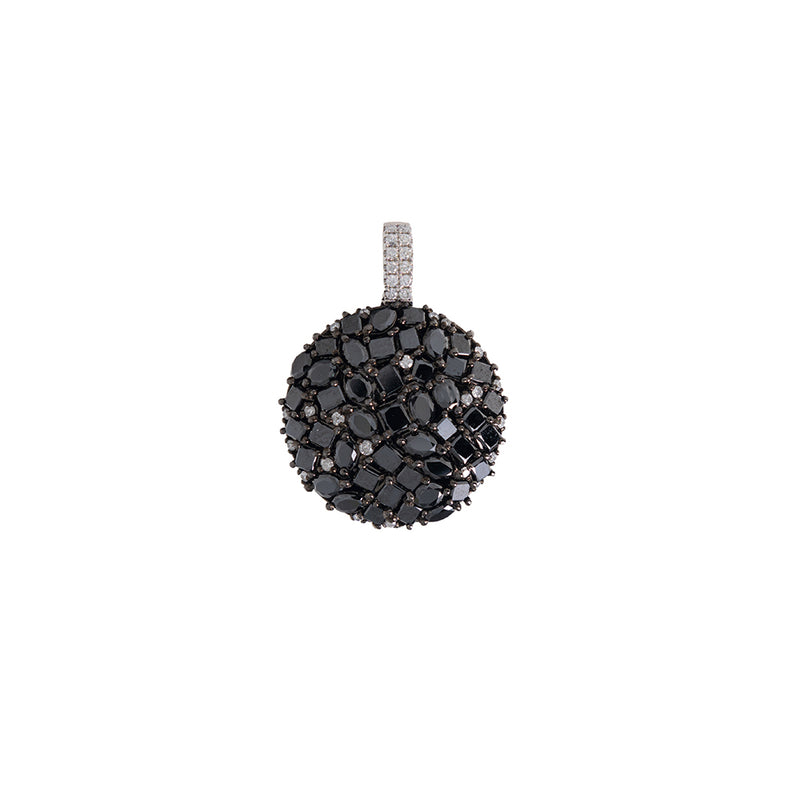 18Kt Gold Black Diamonds Pendant