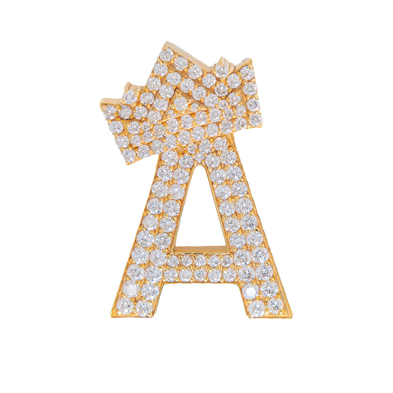 Letter A Pendant With Diamonds