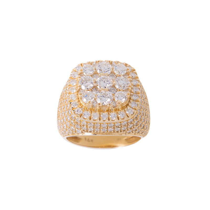 9 Stones Ring For Men With Diamonds