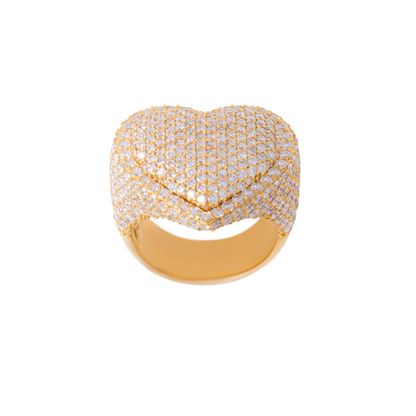Heart Ring For Men With Diamonds