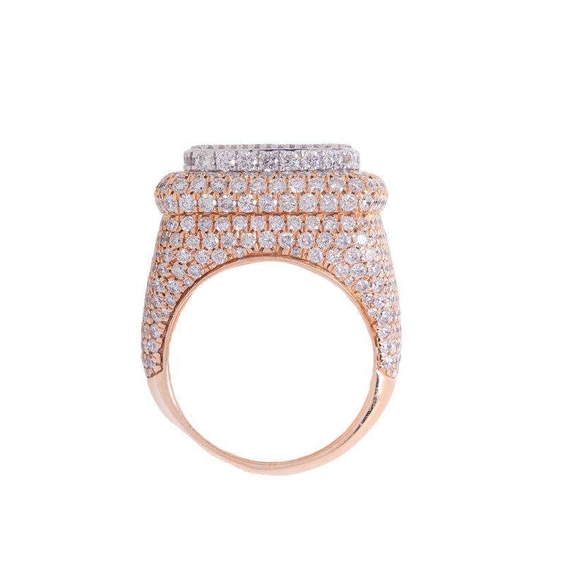 Iced Out Ring For Men With Diamonds