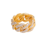 Cuban link Ring For Men With Diamonds