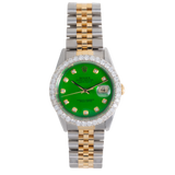 Rolex Oyster Perpetual DATEJUST With Diamonds Green Face