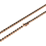 Black Diamond Tennis Chain