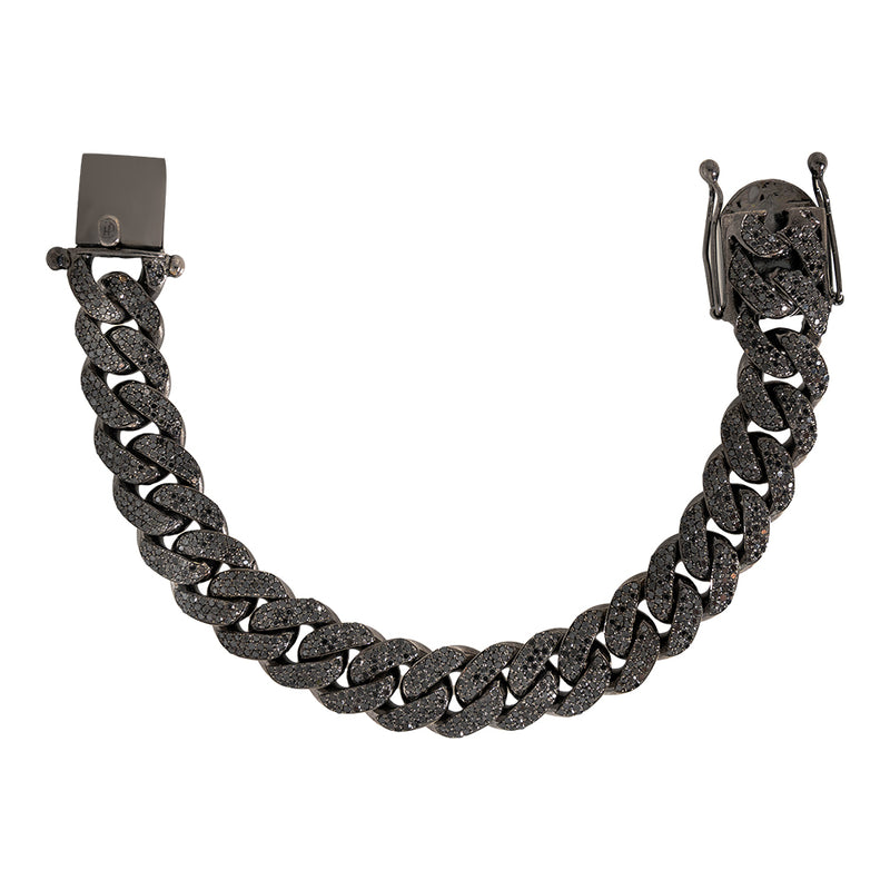 Black Diamond Cuban link Bracelet