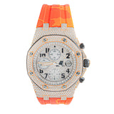 Audemars Piguet Chrono Fully Iced Rubber Strap Rose
