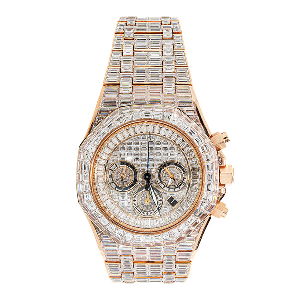 Audemars Piguet Fully Iced Out Baguettes