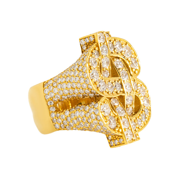 Dollar Sign Ring With Diamonds