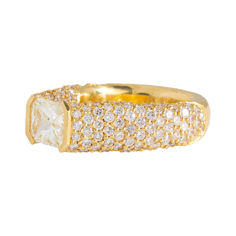 Center Stone Ring With Diamonds