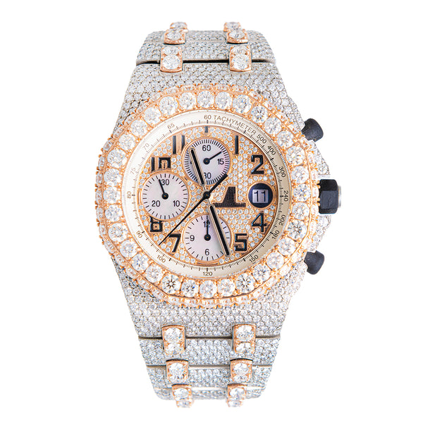Audemars Piguet Royal Oak Fully Iced Out 2 Tone