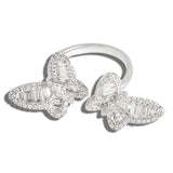 Butterfly Baguette Diamond Ring