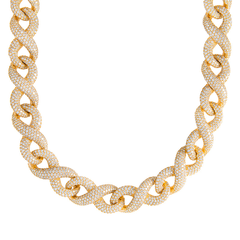 Infinity Link Chain With Diamonds