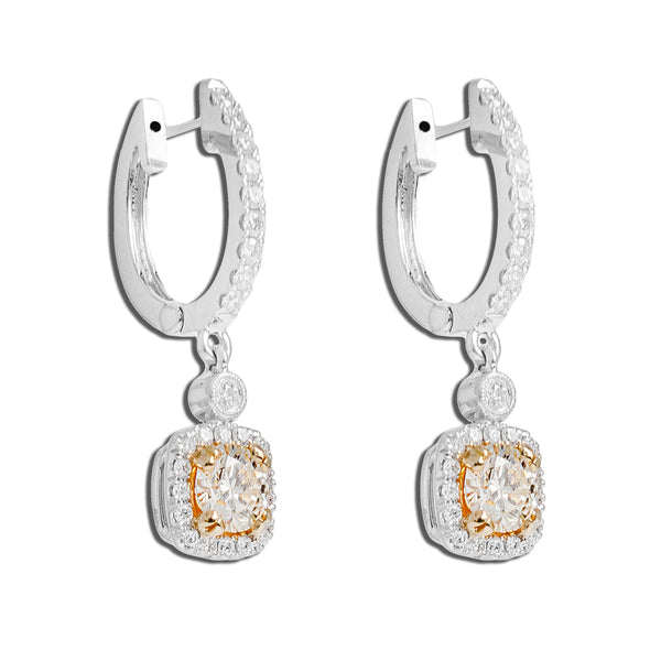 Center Stone Earrings With Diamonds