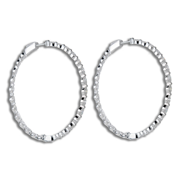 Hoop Earrings With Diamonds