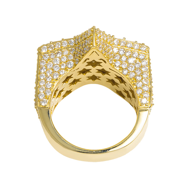 Star Ring With Diamonds And Baguettes