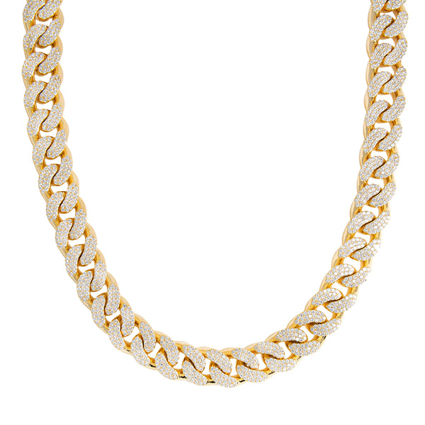Miami Cuban Link Chain With VS Diamonds