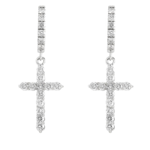 Cross Hanging Earrings