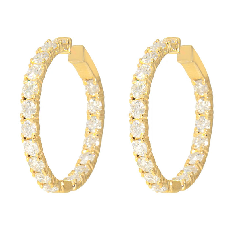 Diamond Hoop Earrings Small