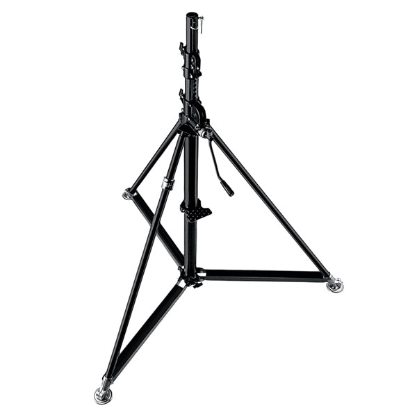 Lichtstativ - Manfrotto 387XBU Stain­less Steel Wind Up - schwarz